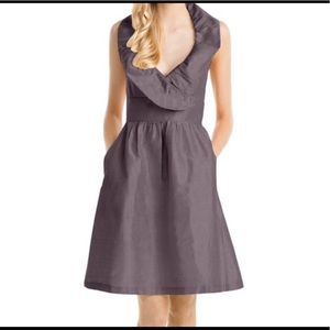 Lula Kate halter dress ruffle size 8 brown